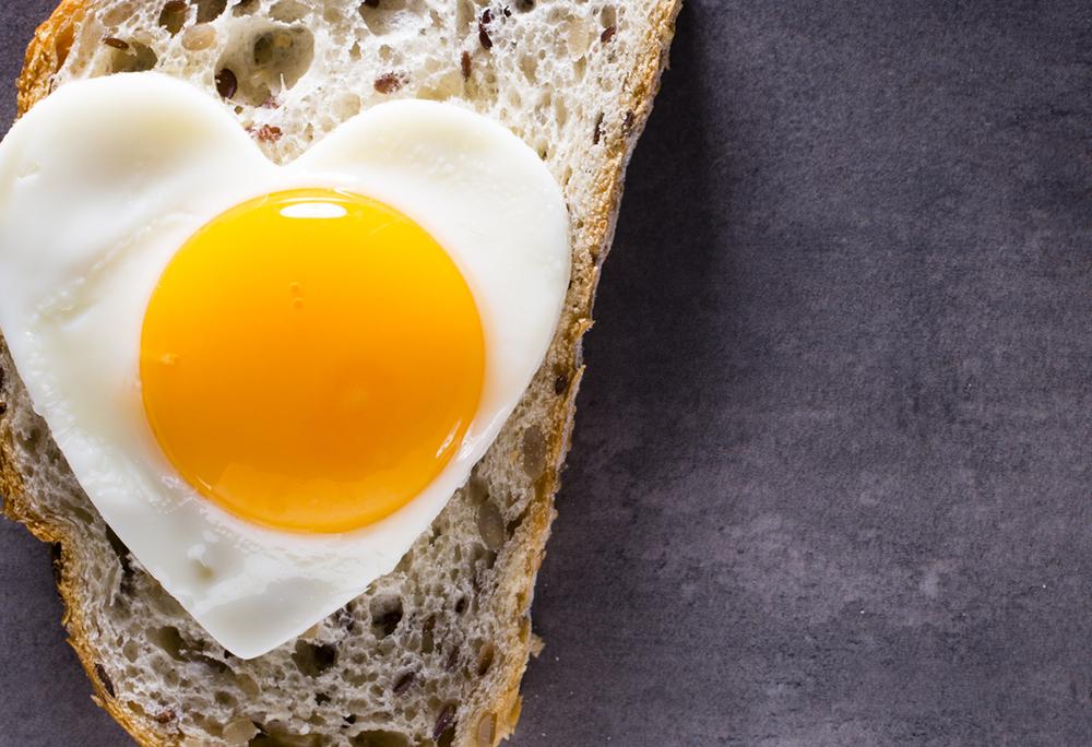 jajo sadzone wkształcie serca nachlebie
